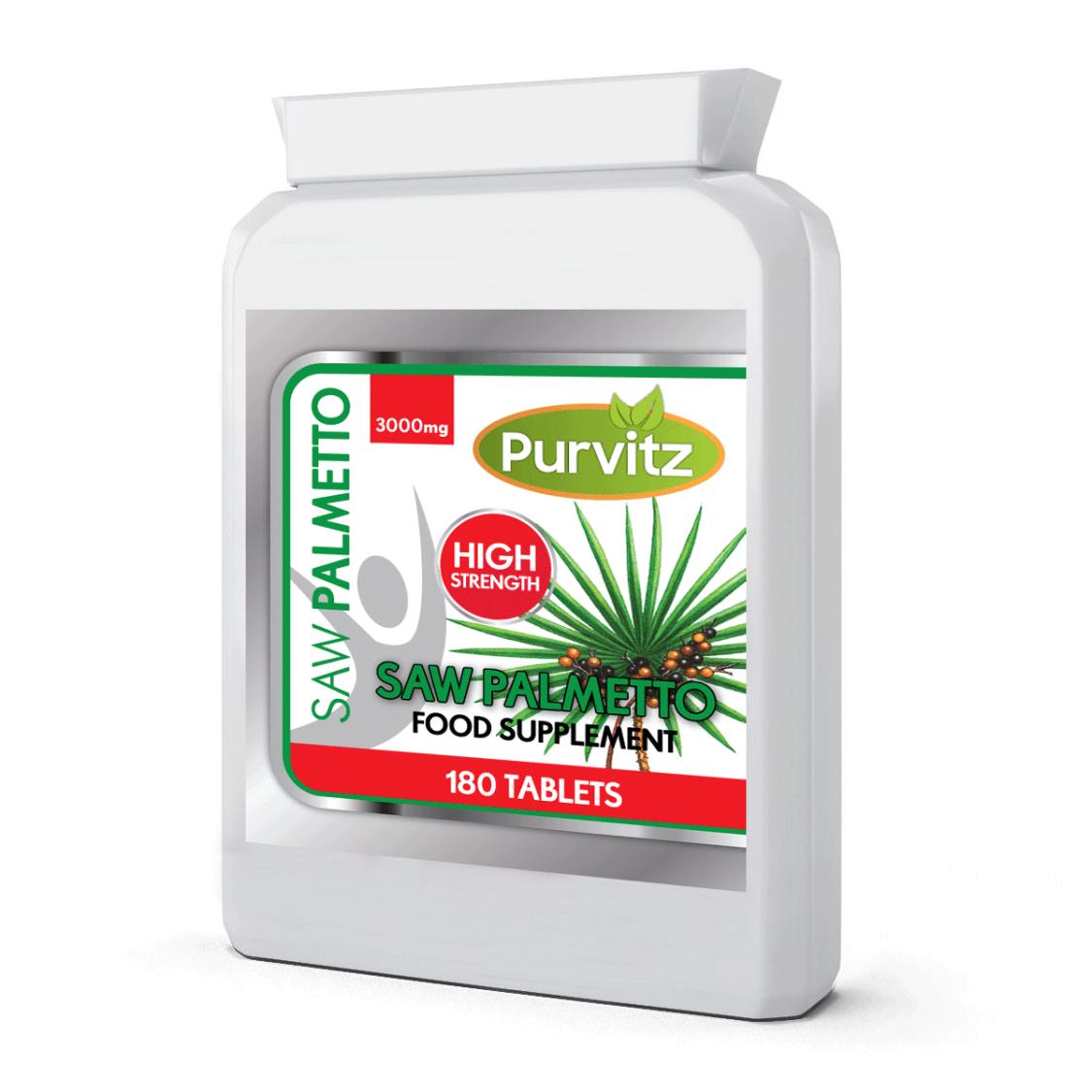 Sägepalme Extrakt 3000mg Haarausfall, Harnwege Prostata 180 Tabletten UK