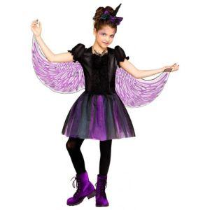 Kids Unicorn Costume Dark Halloween Fancy Dress