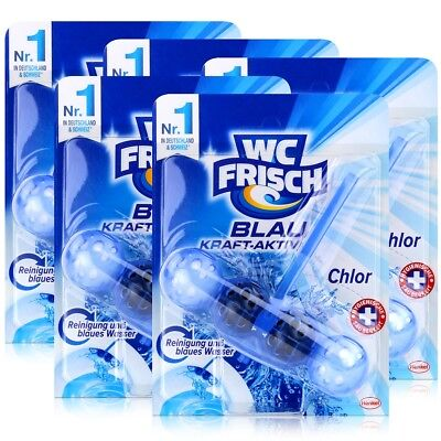 5x Henkel WC Frisch Blau Kraft Aktiv Chlor für blaues Wasser