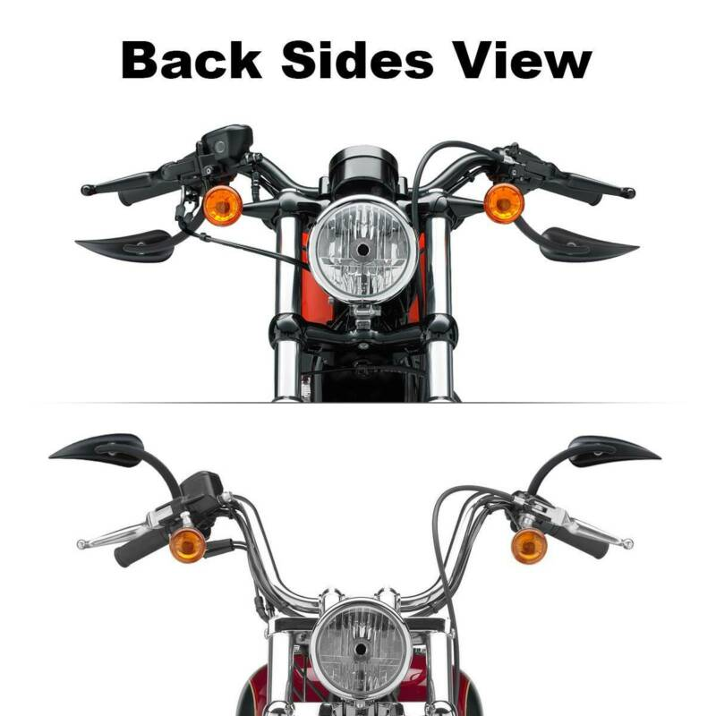 8mm Rear View Mirrors Fit For Harley Softail Sportster
