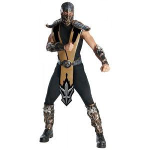 Scorpion Costume Adult Mortal Kombat Ninja Halloween Fancy Dress