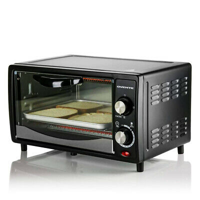 Ovente Electric Toaster Oven 4-Slices with 3-Cooking Mode & Timer Black TO5810B