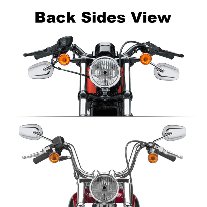 Chrome Rear View Mirrors Fit For Harley Davidson Touring