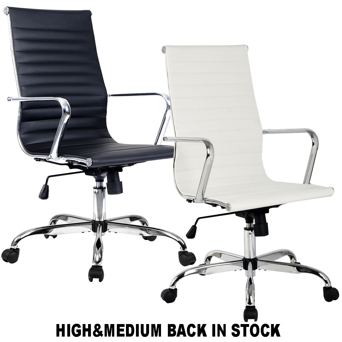 ergonomic office chair ebay ikea drafting modern pu leather high andmed back