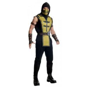 Scorpion Costume Mortal Kombat Halloween Fancy Dress