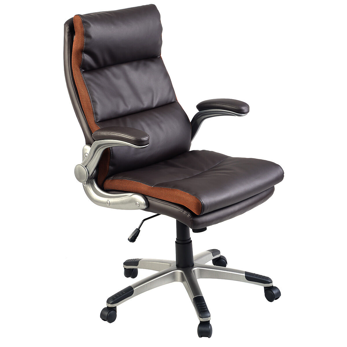 pu leather office chair slip covers target new ergonomic high back executive computer desk
