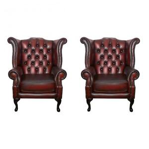 queen anne wingback chair leather plastic outdoor chairs kmart vintage armchairs ebay