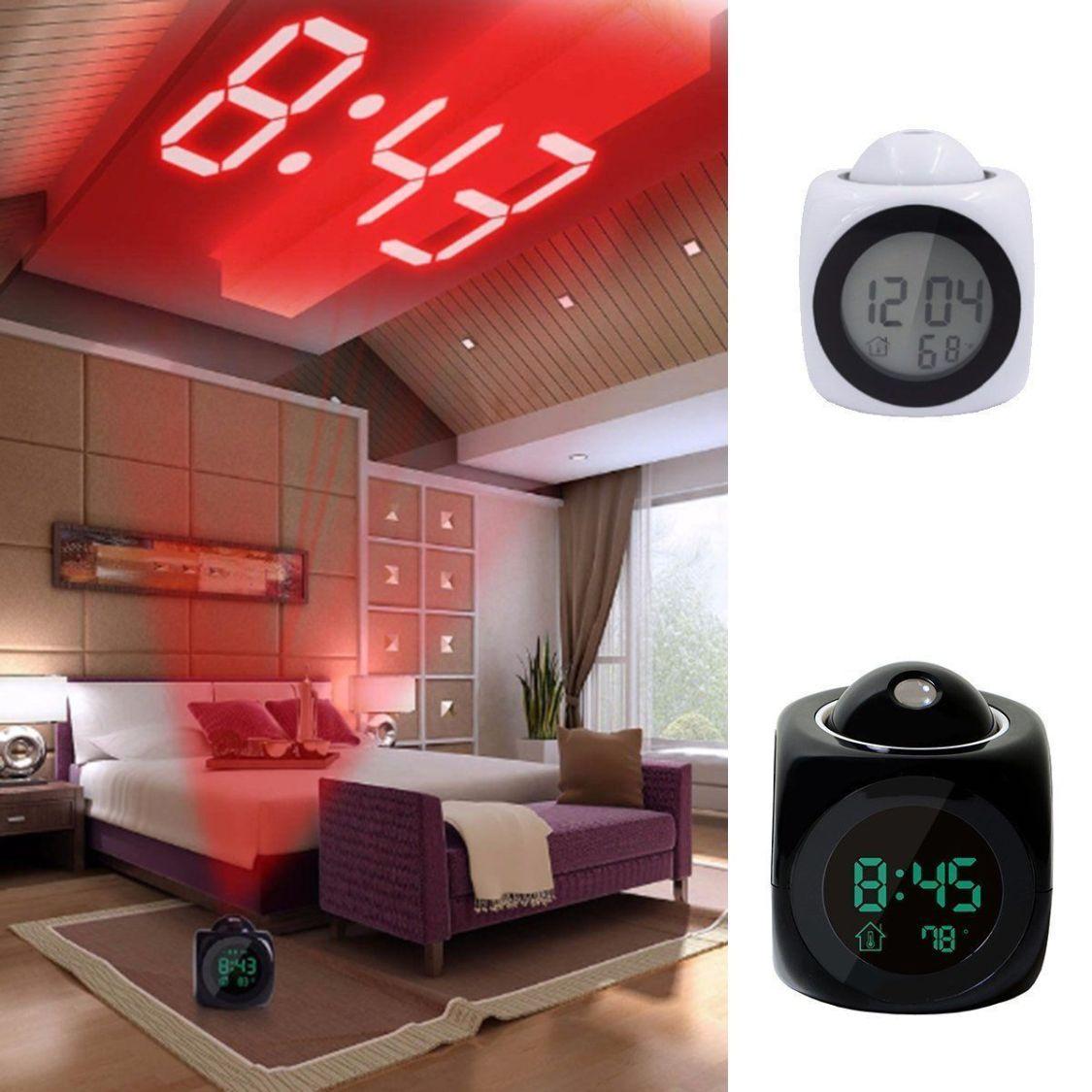 Digital Projektionswecker Projektionsuhr Wecker-Uhr mit Projektion Projektor NEU