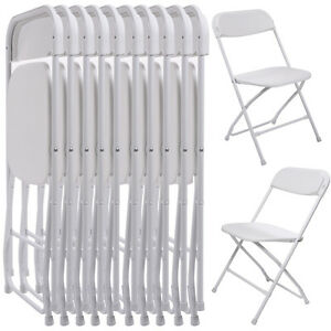 cheap plastic outdoor chairs heated chair cover stackable ebay 10 pack commercial wedding quality folding white