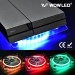 USB LED RGB Changing color Cooler Cooling Fan Stand for PS4 Pro XBOX OneX Laptop