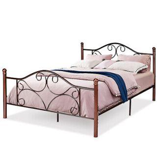 Queen Size Steel Bed Frame Platform Stable Metal Slats Headboard Footboard New
