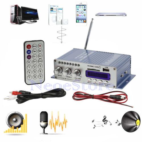 MP3 Car Auto Moto 12V Mini Hi-Fi Stereo Audio Verstärker Amplifier 2-Kanal Blau