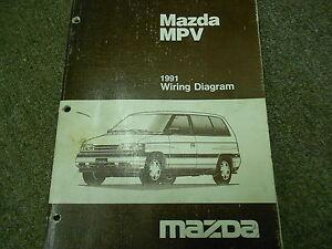 1991 Mazda MPV Van Electrical Wiring Diagram Service Repair Manual 91 | eBay