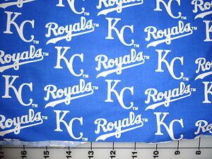 Vintage mlb baseball kansas city royals cotton fabric 7