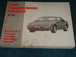 1990 Ford Thunderbird Mercury Cougar Wiring Amp Vacuum