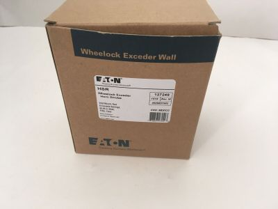 *NIB* *New* Wheelock HSR Fire Alarm Horn/Strobe Red Wall Exceeder