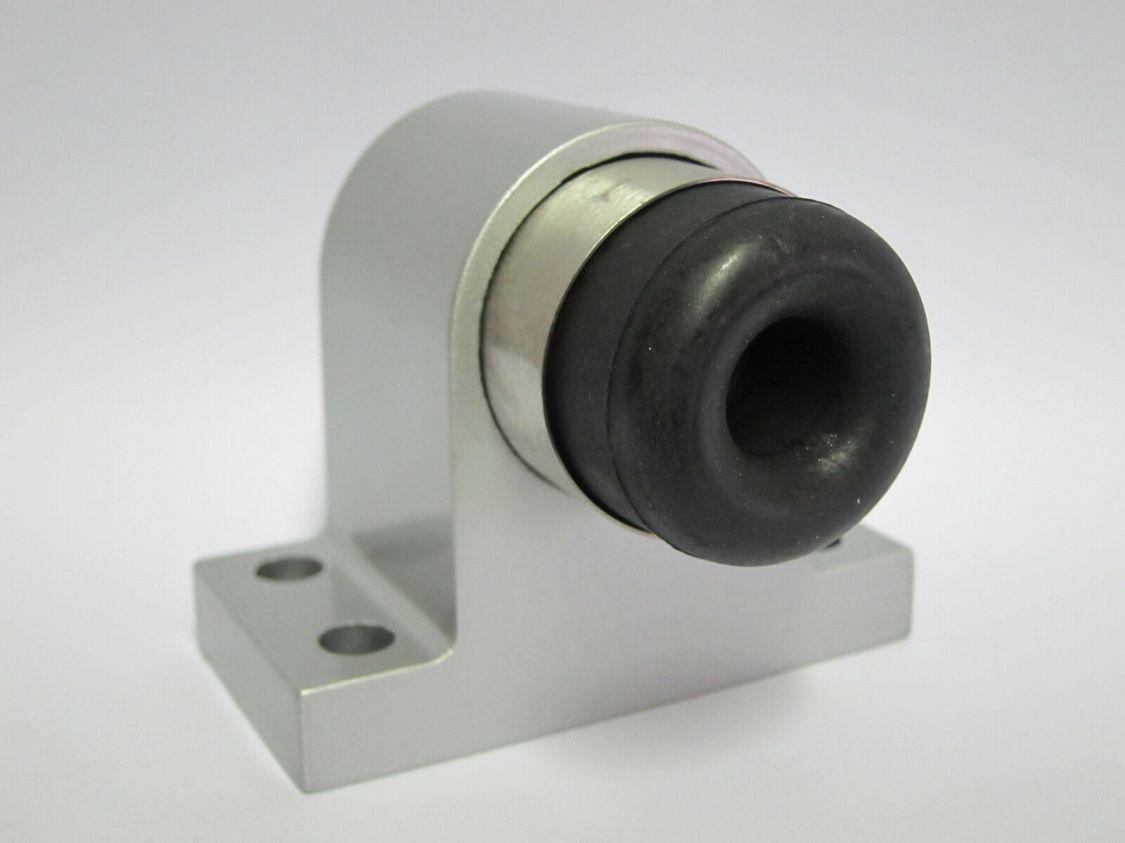 Türstopper Massiv Aluminium Silber Bodentürstopper Türpuffer federnd gelagert