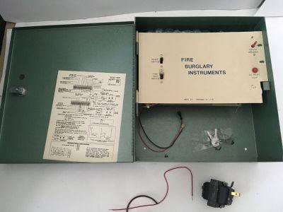 FBI Fire Burglary Instruments 675 Fire Security Alarm Control Panel