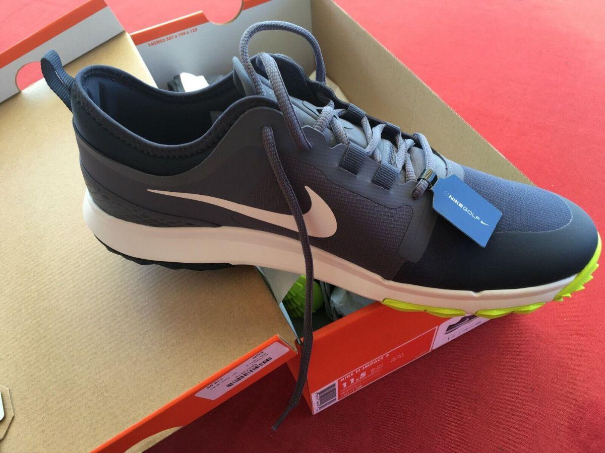 Golfschuhe Neu Nike FI Impact 2 UK 10,5/EU 45,5 Herren wasserdicht