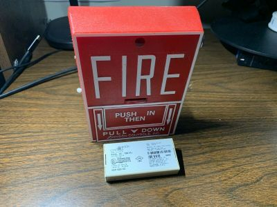 Johnson Controls JBGX-101L Fire Alarm Pull Station w/ M501J Module Notifier
