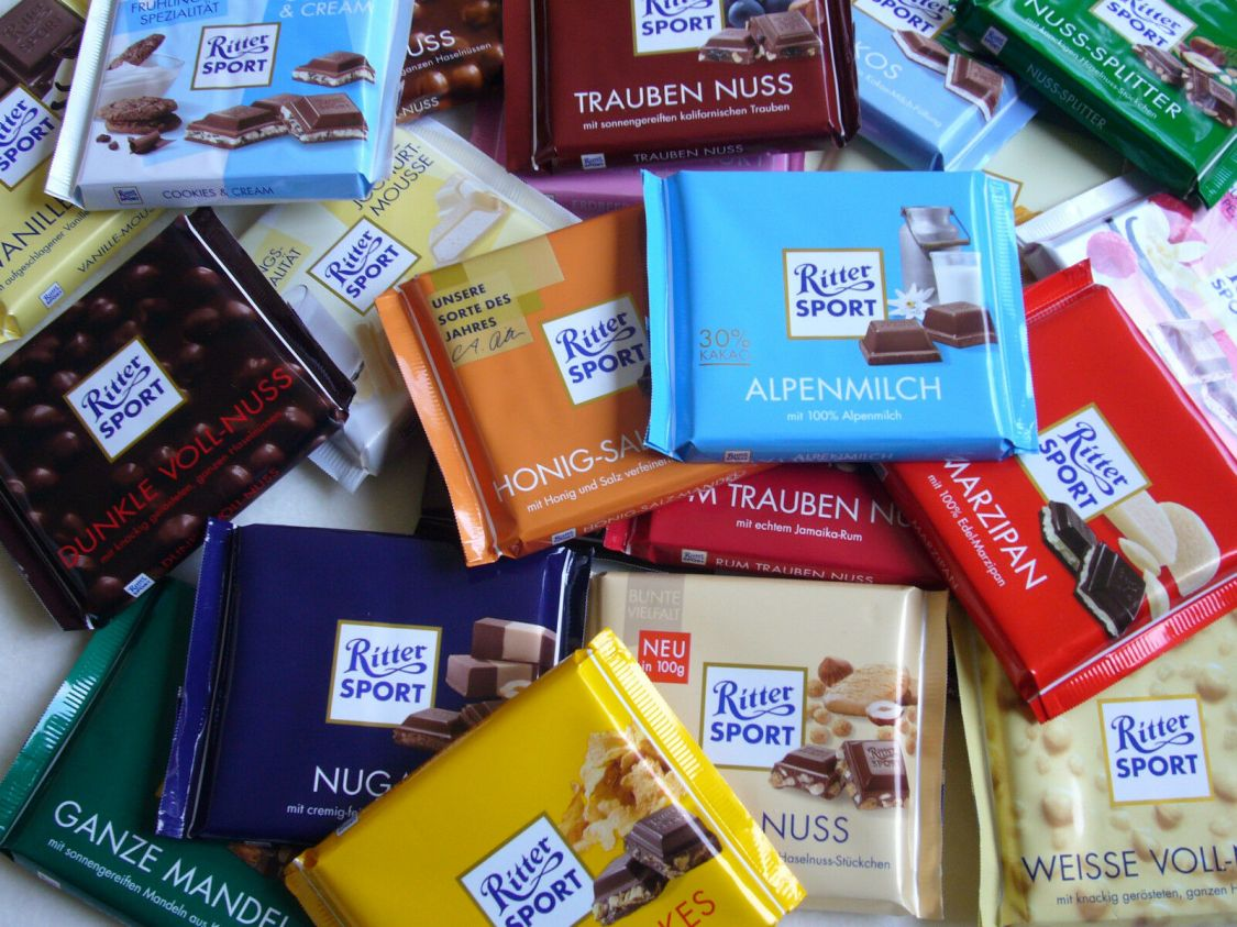 2 kg Ritter Sport Schokolade Mischpaket von bester Qualität - Langes MHD