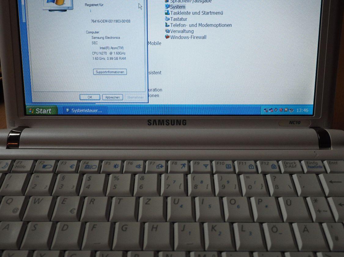 Samsung NC10, 10,1 Zoll-Netbook, alt und funktionstüchtig mit Akku/Netzteil