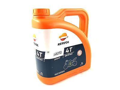 REPSOL Aceite moto sintetico 4T 10W40 4L 4 Litros