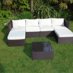 Rattan Outdoor Sofas Uk Sleeper Sofa With Reclining Loveseat New Wicker Conservatory Garden Furniture