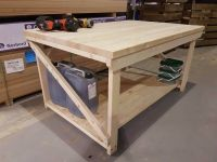 Wooden Very Wide Super Heavy Duty Work Bench 4ft to 6ft