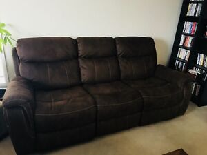 leon s mackenzie sofa ackerman double reclining loveseat set leons kijiji in alberta buy sell save with canada 1 local brown suede couch