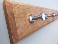 Modern Wooden Coat Rack Handmade Solid Oak 2 to 10