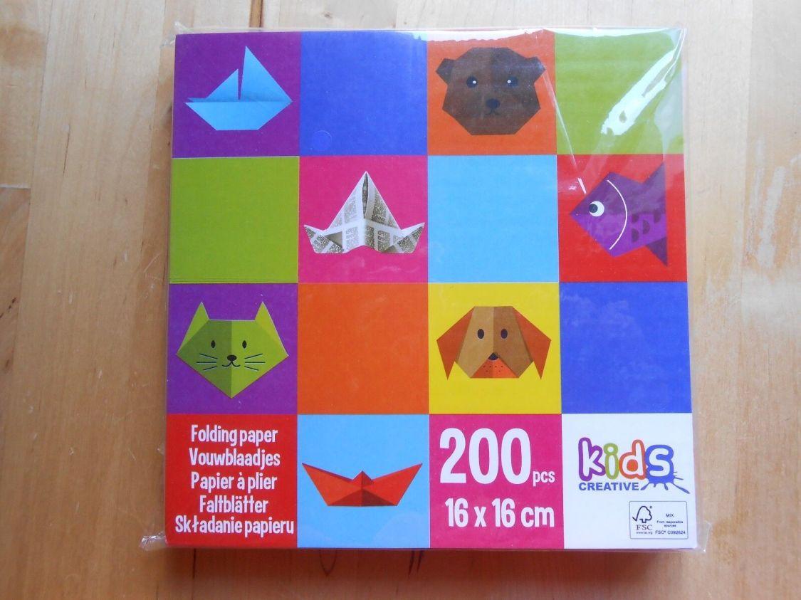 200 Faltblätter Origami Bastelblätter 200 Stück 16 x 16cm Faltpapier 10 Farben