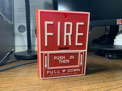 Johnson Controls JBGX-101L Fire Alarm Pull Station w/ M501J Module Notifier