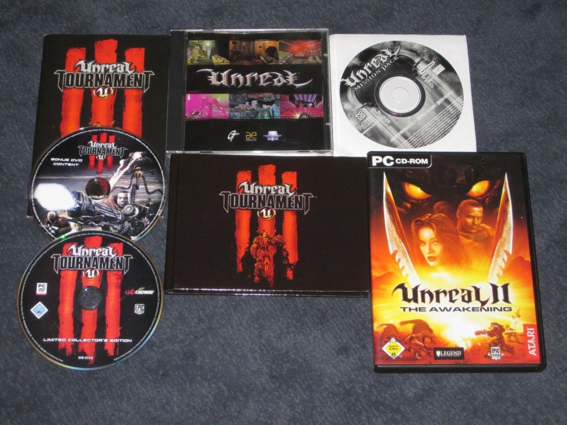 Unreal + Mission Pack + Unreal II (2) + Unreal Tournament III (3) für PC