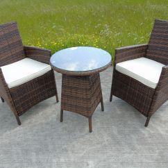 Rattan Chairs Uk Stool Chair Revit Bistro Garden Wicker Outdoor Dining Furniture Set