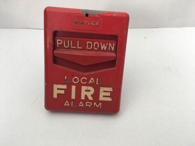 *Vintage* *Rare* Simplex 4251-1 Fire Alarm Pull Station Chevron