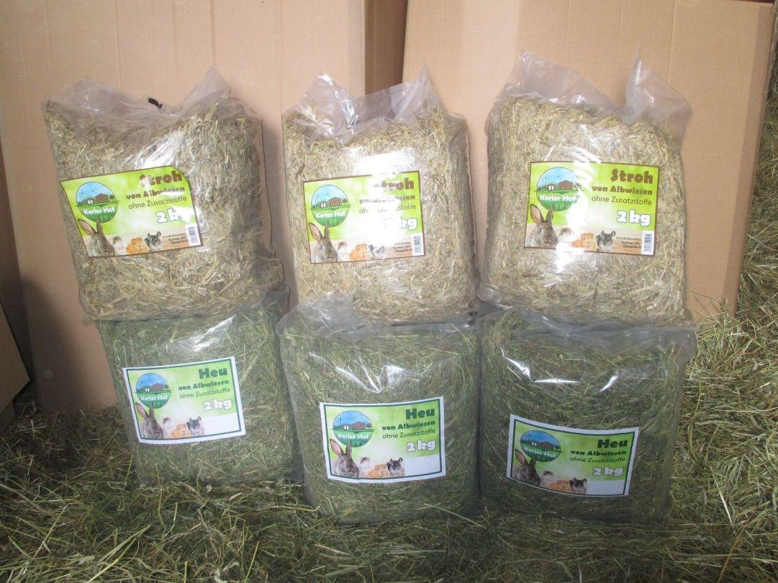 Heu und Stroh 12 kg Qualität von der schwäbischen Alb für Nager Kaninchen