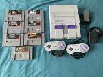 Super Nintendo (SNES) Lot. Console and games!