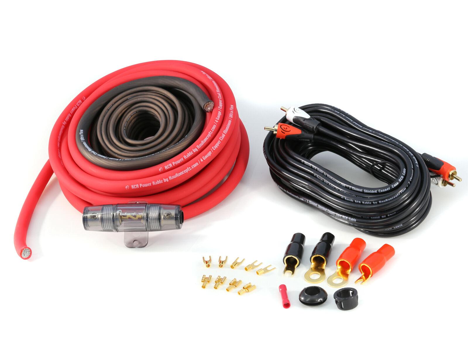 KnuKonceptz KCA TRUE 8 Gauge Amp Kit Installation Wiring