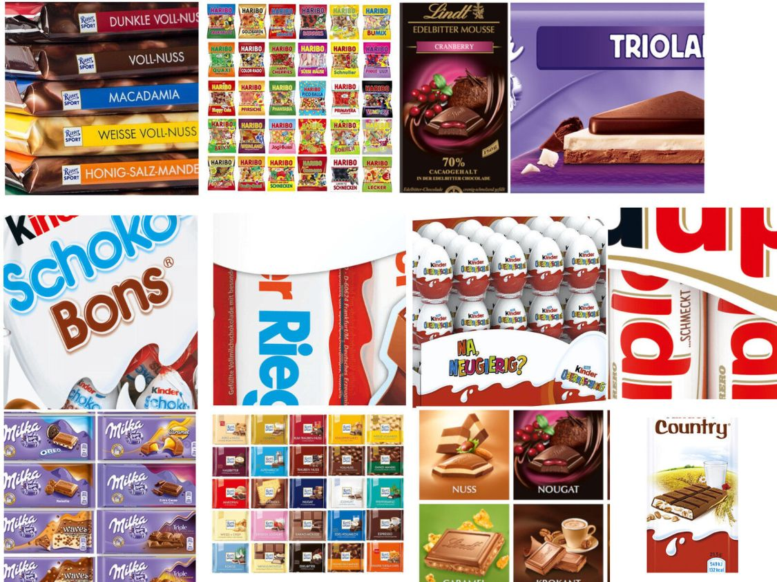Süßigkeitenpaket 3 Kg | Milka, Ritter Sport, Haribo, Ferrero u.v.m