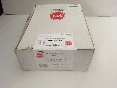"*NIB* *New* Safety Technology STI-3100 2"" Conduit Spacer Clear"