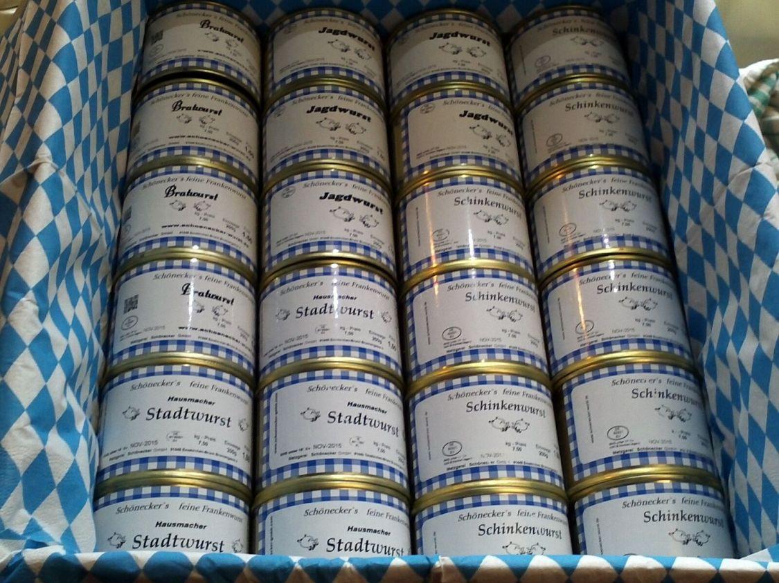 Schoenecker-Wurst Dosen-Mix verschiedene Sorten