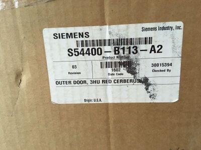 *NIB* *New* Siemens Cerberus Pyrotronics S54400-B113-A2 FACP Door Red 3HU