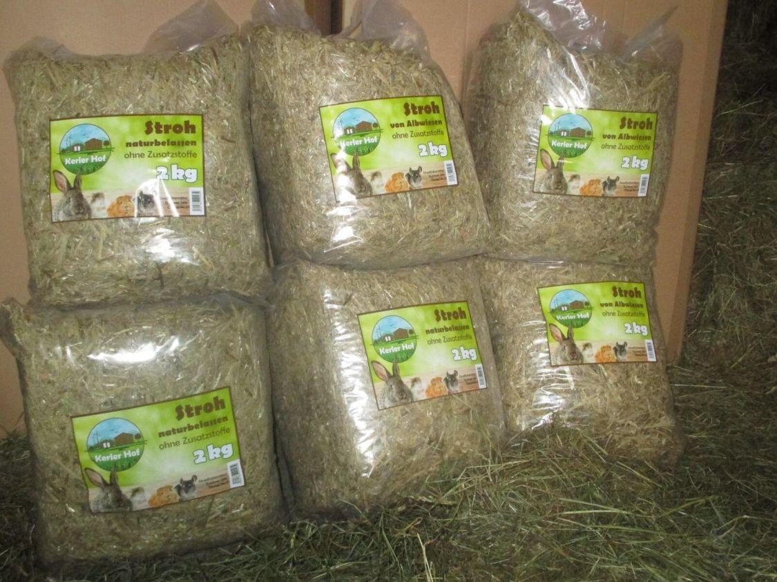 Stroh 12 kg Qualität von der schwäbischen Alb für Nager Kaninchen Einstreu