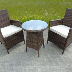 2 Chair Bistro Set Sofa And Covers Rattan Two Seater Chairs Dining Wicker Outdoor