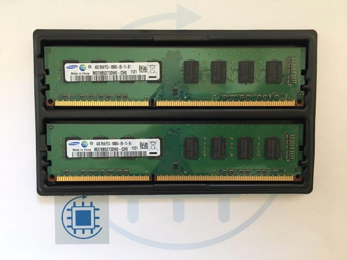 8GB (2x 4GB ) DDR3 PC3 10600U 1333MHz Arbeitsspeicher Samsung Desktop RAM