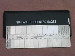 Surface roughness comparator gage brand new also business  industrial ebay rh