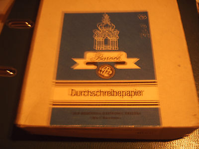 10 violett  Blaupapier Kohlepapier Durchschreibepapier Barock DDR A5