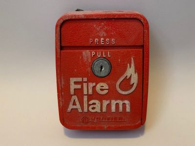 *Vintage* *Rare* Notifier LNG-1R Fire Alarm Pull Station