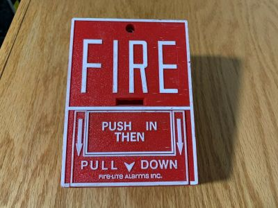 Fire-Lite BG-10 Fire Alarm Pull Station Honeywell Notifier